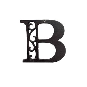 Letra B de hierro de 10cm
