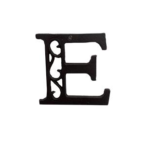 Letra E de hierro de 10cm