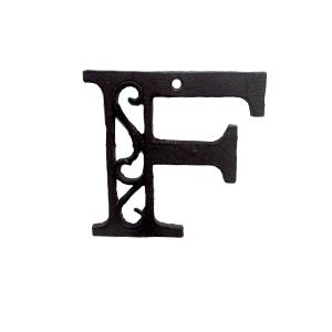 Letra F de hierro de 10cm