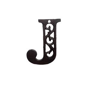 Letra J de hierro de 10cm