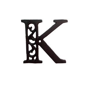 Letra K de hierro de 10cm