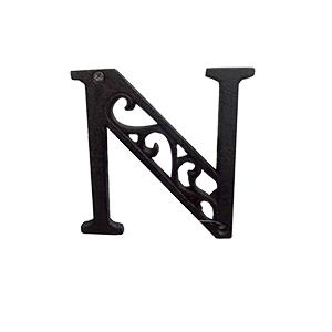 Letra N de hierro de 10cm