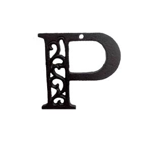 Letra P de hierro de 10cm