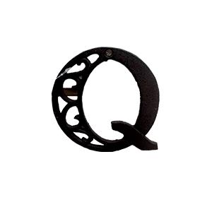 Letra Q de hierro de 10cm