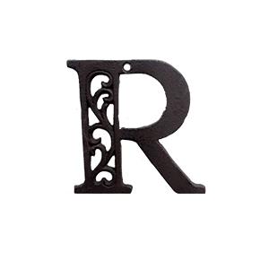 Letra R de hierro de 10cm