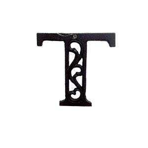 Letra T de hierro de 10cm