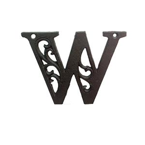Letra W de hierro de 10cm