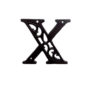 Letra X de hierro de 10cm