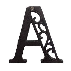 Letra A de hierro de 20cm