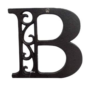 Letra B de hierro de 20cm