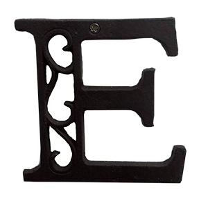 Letra E de hierro de 20cm