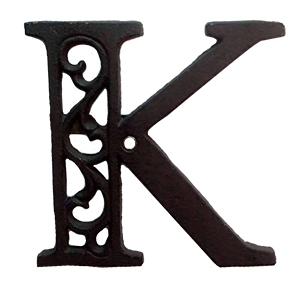 Letra K de hierro de 20cm