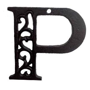 Letra P de hierro de 20cm
