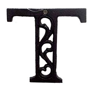 Letra T de hierro de 20cm