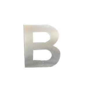 Letra B de acero de 15cm