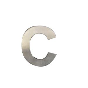 Letra C de acero de 15cm