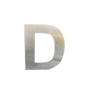Letra D de acero de 15cm