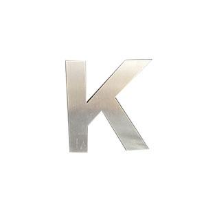 Letra K de acero de 15cm
