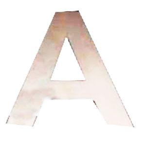 Letra A de acero de 25cm