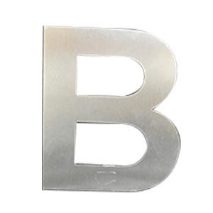Letra B de acero de 25cm