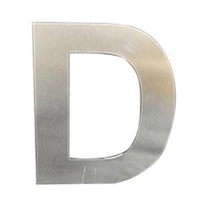 Letra D de acero de 25cm