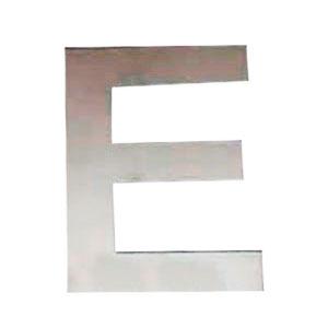 Letra E de acero de 25cm