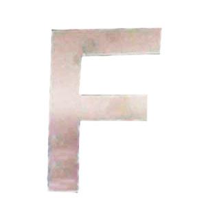 Letra F de acero de 25cm