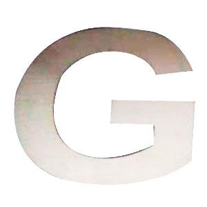 Letra G de acero de 25cm