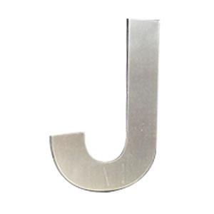 Letra J de acero de 25cm