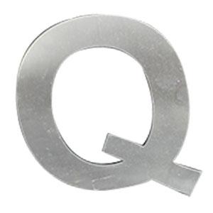 Letra Q de acero de 25cm