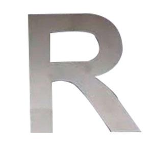 Letra R de acero de 25cm