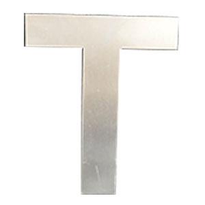 Letra T de acero de 25cm