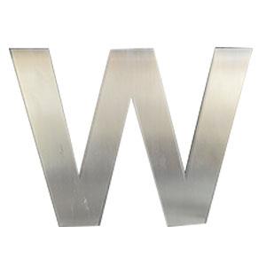 Letra W de acero de 25cm