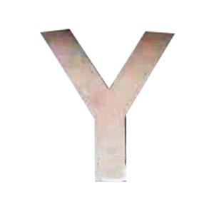 Letra Y de acero de 25cm