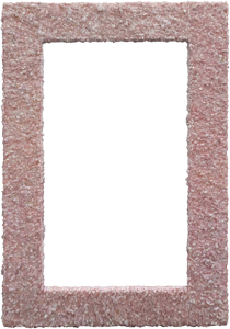 Espejo rectangular forrado de cuarzos de 120x80x5cm