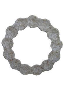 Espejo diseño flor con círculos de concha de 80x80x5cm