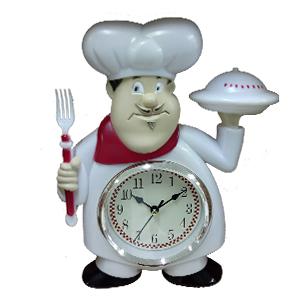 Reloj de plastico para pared diseño Chef de 27.8x22.3x4.5cm
