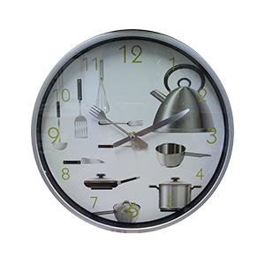 Reloj de plastico para  pared diseño accesorios de cocina de 30.5X30.5X4.5cm