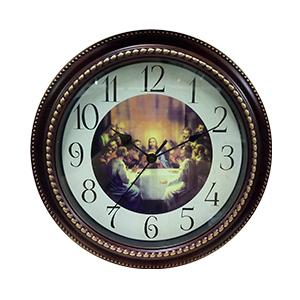 Reloj de plastico para pared estampado de la ultima cena de 27.5X27.5X4.8cm