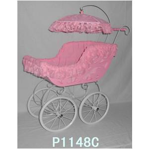 Carriola para niña rosa con encaje de 70x34x87cm