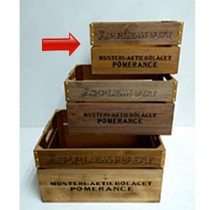 Maceta de madera rectangular diseño Caja de 33x23x19cm