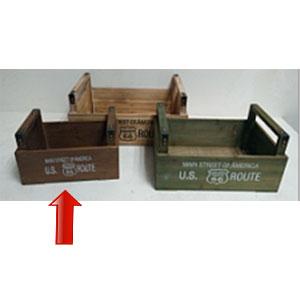 Maceta de madera rectangular con asas de 32x20x19cm