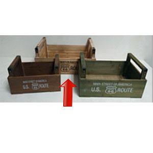 Maceta de madera rectangular con asas de 40x25x21cm