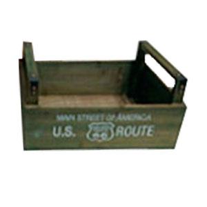 Maceta de madera rectangular con asas de 48x30x23cm