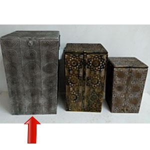 Cesto para lavanderia rectangular con grabado de 40x64cm