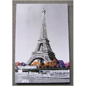 Cuadro diseño Torre Eiffel y diamantina de 60x90x2.5cm