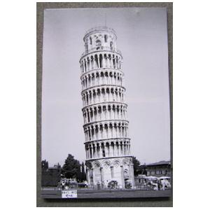 Cuadro diseño Torre de Pisa y diamantina de 60x90x2.5cm