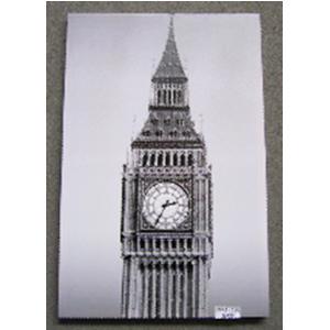 Cuadro diseño Big Ben y diamantina de 60x90x2.5cm