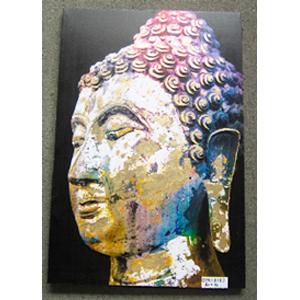 Cuadro diseño Cabeza de Buda a colores de 60x90x2.5cm