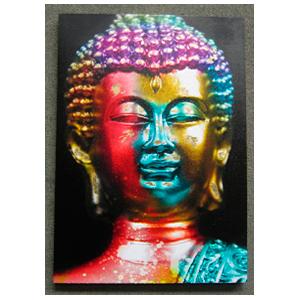 Cuadro diseño Buda a colores de 60x90x2.5cm